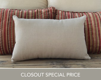 "Closeout! Linen pillow, cream brown, Pillow case, Cushion Cover, throw pillow, accent pillow, lumbar pillow, 12""x18"""