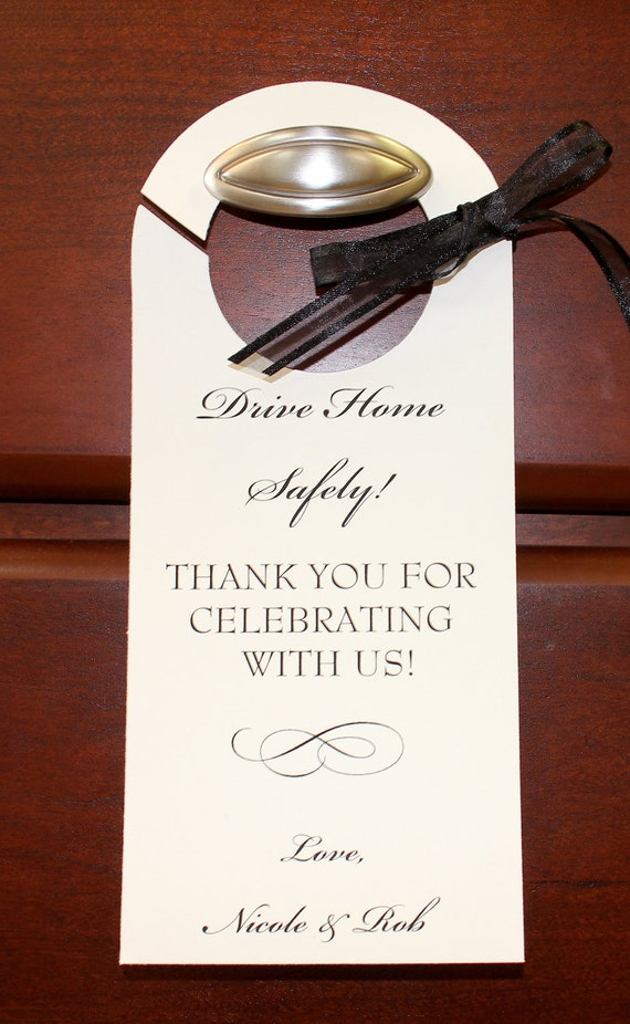 Wedding personalized valet parking tag drive home safe rear stopboris Gallery