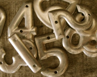 Vintage Metal Steampunk Bell System Aluminum Numbers Lot