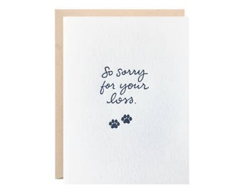Sorry For Your Lost PET Greeting Card