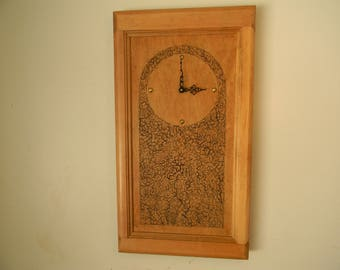 Rustic, solid wood, handmade clock