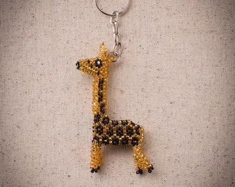Giraffe Keychain, Beaded