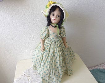 Madame Alexander, Composition Scarlett O'Hara Doll, 19 Inches. 1940s