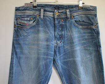Vintage DIESEL MEN'S JEANS , men's blue jeans size W-34...................(018)