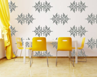 Damask Wall Decal, Wall Art, Pattern Wall Decal, Vinyl Wall Decal, Wall