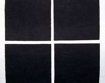 "SOLID BLACK 5"" Squares (30 count), 100% cotton Prewashed , Quilt Block Fabric  (#stk38)"