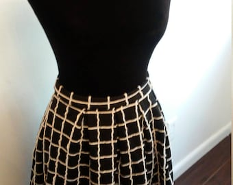 On Sale Now Midi black and white stripe skirt