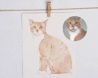 Gifts for girlfriend, Girlfriend Gift, gift for wife, gifts for sister, gift idea for women birthday gift for her, Personalized cat portrait