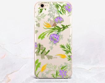 Spring iPhone 8 Case iPhone X Case iPhone 7 Case Floral Clear GRIP Rubber Case iPhone 7 Plus Clear Case iPhone SE Case Samsung S8 Case U269