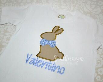 Easter Shirt, Boys Easter Shirt, Monogram Easter Shirt, Personalize Easter Shirt, Gingham Easter Shirt, Chocolate Bunny Shirt!