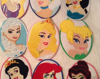Disney Princess Oval Patch Embroidered Motif Appliques