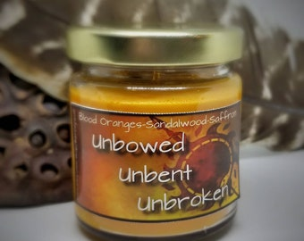 Unbowed Unbent Unbroken (House Martell Game of Thrones) Glitter Soy Candle 2.5oz
