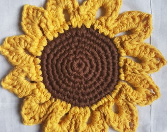 Sunflower Coaster *Crochet Pattern*