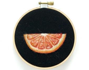 """Orange Slice - 4"""" Hoop"""