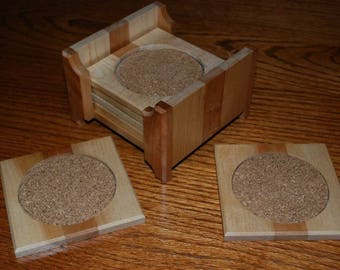 Soft Tones Wood Coasters
