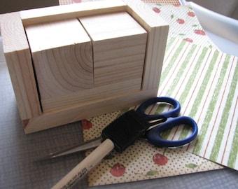 Diy calendar etsy blank perpetual calendar diy wooden block calendar unfinished calendar blocks blank wood do it yourself calendar gifts to make solutioingenieria Image collections