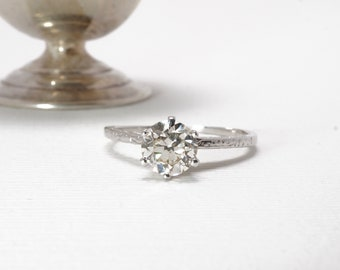 On Hold | Please Do Not Purchase | 1920s Diamond Engagement Ring 0.67 Carat Old European Cut Diamond In 18K White Gold Item 98618