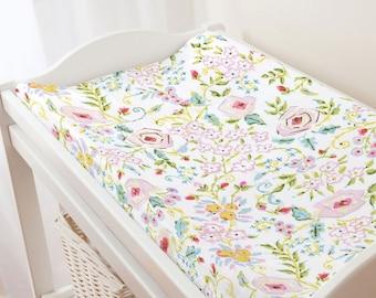 Carousel Designs Pink Primrose Changing Pad Cover