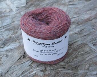 JaggerSpun 2/8 Boysenberry Heather Wool Yarn