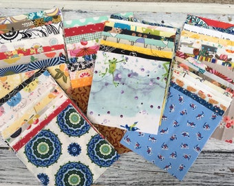 "Random cotton Prints 5"" Charm pack of 100 squares"