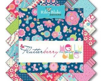Flutterberry Fat Quarter Bundle, 18 Fat Quarter Pieces, by Riley Blake, Bin H