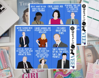 VEEP quote & picture Planner Stickers