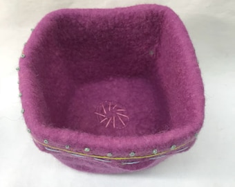 Square Felted Vessel