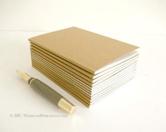 Bulk Pocket Journal Set, 12 Kraft Notebooks | Back to School Bundle - Recycled A6 Notebook Set l EcoFriendly Travelers Notebook Dori Inserts