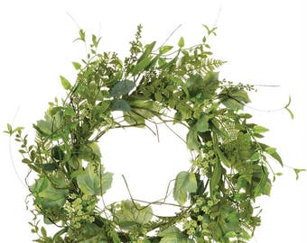 "Foliage Berry Wreath 22"""