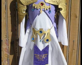 Twilight Princess Inspired Princess Dress Costume - Cotton Collection - Custom Order