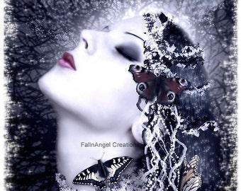 "Fantasy Art Print ""Butterfly"" Original Art"