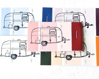 PAINT CHIP MATCHBOOK notepads Set of 5- Airstream Camper in brights
