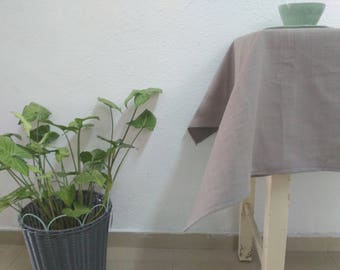 Square Tablecloth Brown Tablecloth Linen Tablecloth Vintage Tablecloth Natural Linen Tablecloth