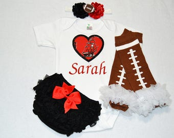 tampa bay buccaneers baby girl outfit - baby girls buccaneers outfit - buccaneers baby girl football outfit - buccaneers football baby girl