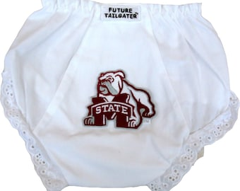Mississippi State Bulldogs Baby Diaper Cover