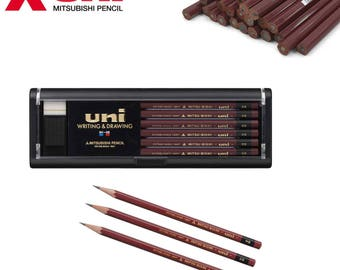 Uni Mitsubishi Uni Series Wooden Pencil - available in 2B, B and HB hardnesses - 12 pack - Made in Japan