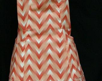 Small Adult chevron print apron (#161)
