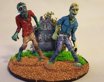Zombie Apocalypse miniature diorama #10