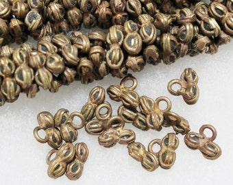 20 African Brass Charm Beads, Metal Spacer Beads, Tribal Beads (d27)