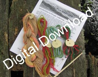 Finger Weaving Tutorial, PDF Printable Download Start today
