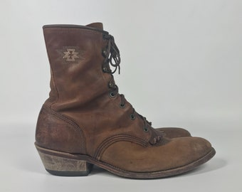 Size US 10 Womens / 9 Mens - Lacer Boots - Vintage Brown Boot