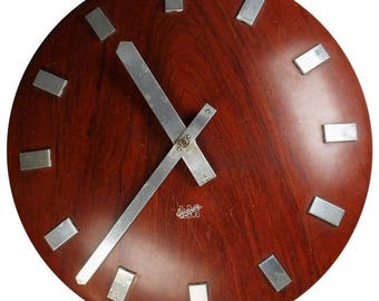 Mid-Century Wall Clock by LM Ericsson