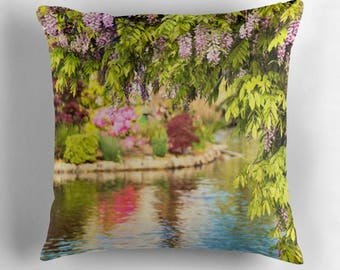 Floral Home Decor, Garden Decor, Flower Pillow, Gift for Gardener, Floral Pillow, Wisteria,Flower Throw Pillow,Floral Cushion,Flower Cushion