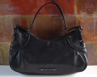 Excellent COLE HAAN Handbag Black Leather Small Bag