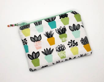 Plant Lovers Coin Purse Earbud Holder Gift For Her Zipper Pouch Business Card Holder Credit Card Holder Gift For Mom Gardening Gifts