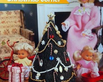 Christmas Corner By Laura Doyle And Annie's Fashion Doll Plastic Canvas Club Vintage Plastic Canvas Pattern Leaflet 1996