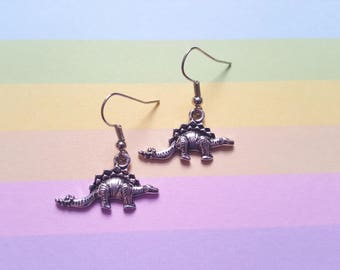 Dinosaur earrings, Stegosaurus earrings, Dinosaur jewellery, Dinosaur, Stegosaurus, Dino, Jurassic, Dinosaur accessories