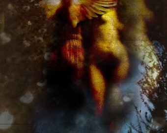 ConiunctioThe Al - Chemical Marriage of the Divine - 8x10 Signed and Matted Metallic Print