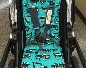 Personalized Reversible Stroller Pad Liner Uppababy Vista