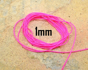 1 meter neon pink nylon thread 1 mm